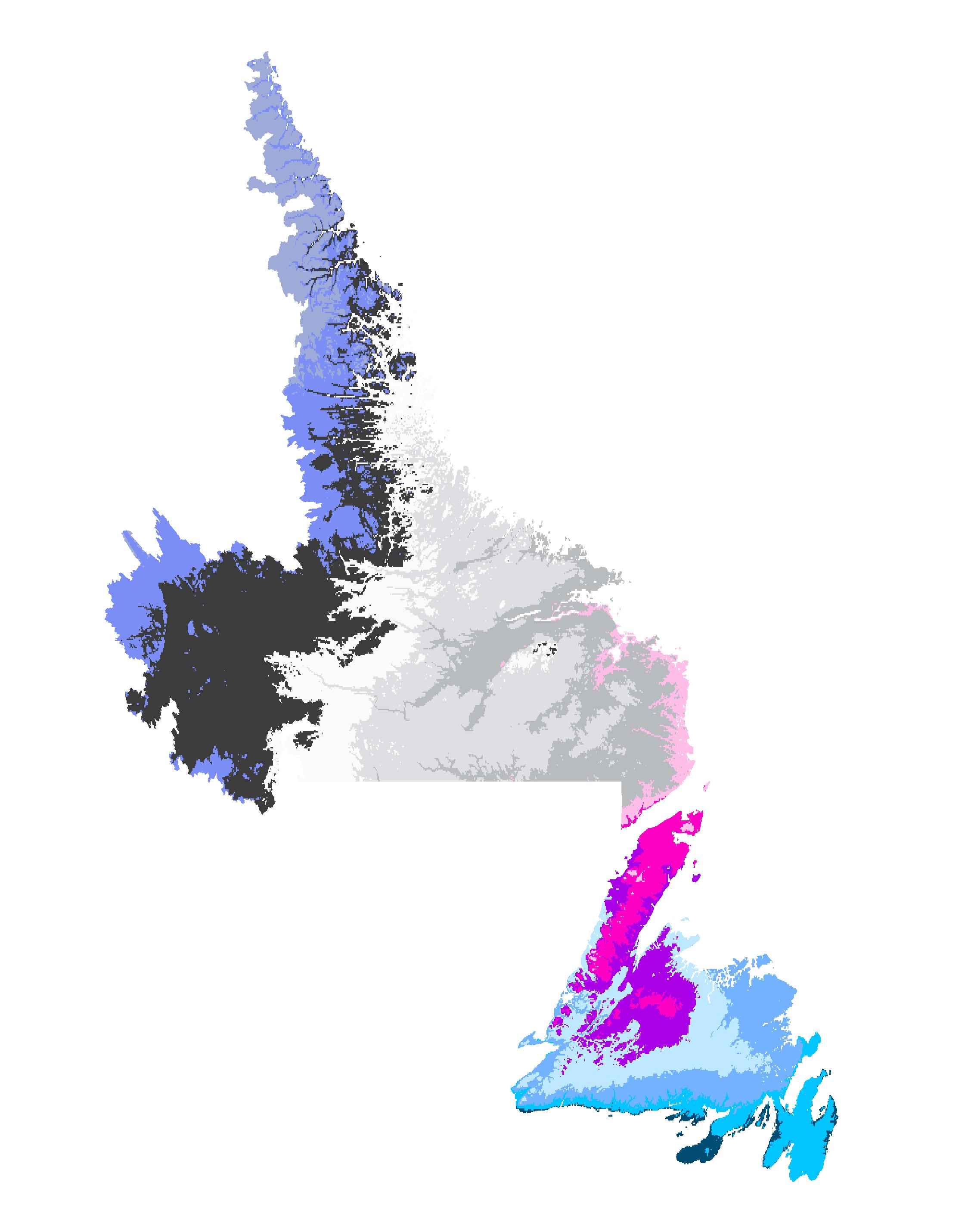 New Foundland and Labrador Plant Hardiness Zone